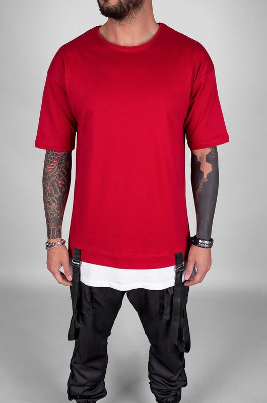 BLACK ISLAND DETAIL T-SHIRT RED 1103 (3)