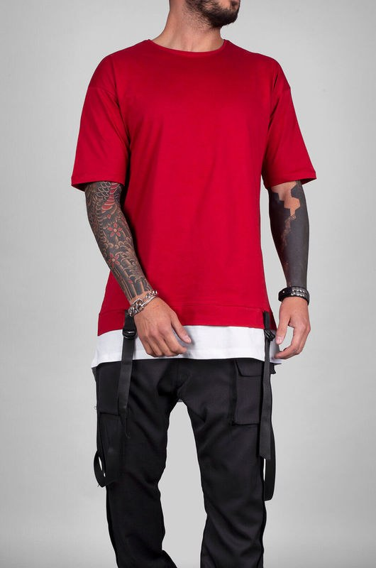 BLACK ISLAND DETAIL T-SHIRT RED 1103 (1)