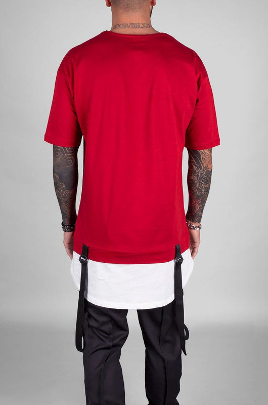 BLACK ISLAND DETAIL T-SHIRT RED 1103 (4)