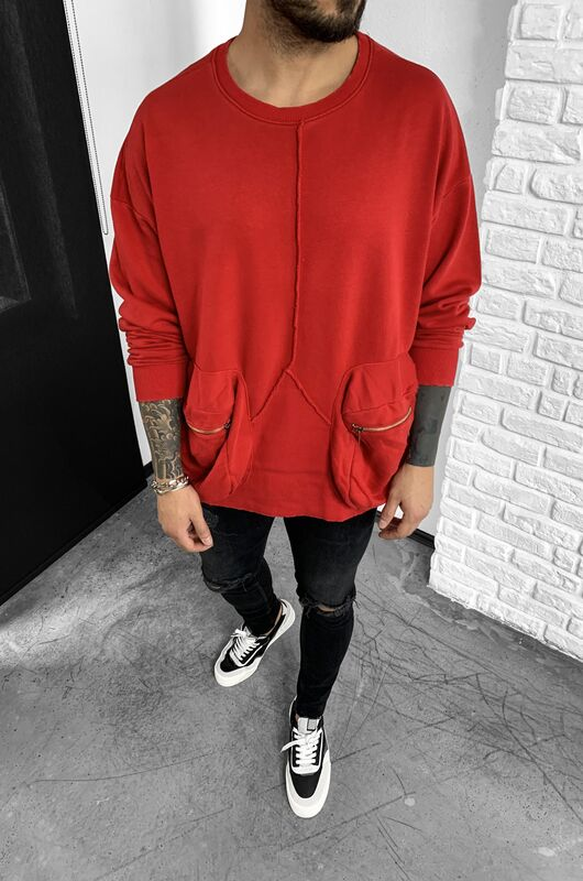 COMBAT SWEATSHIRT RED 1050 (1)