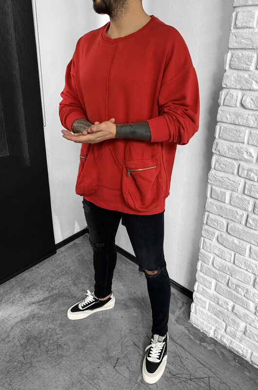 Black Island - COMBAT SWEATSHIRT RED 1050 (1)