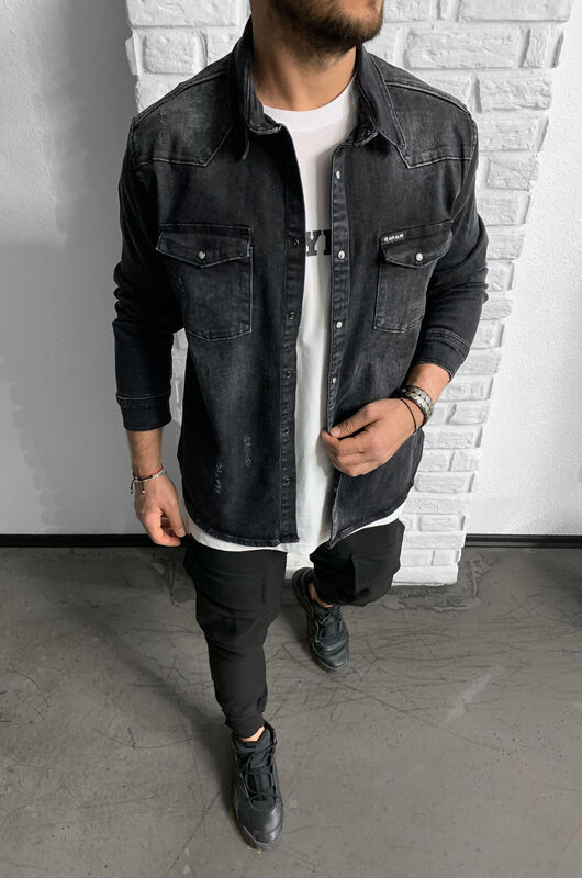 Black Island - YEEZUS DENIM SHIRT 15164 (1)