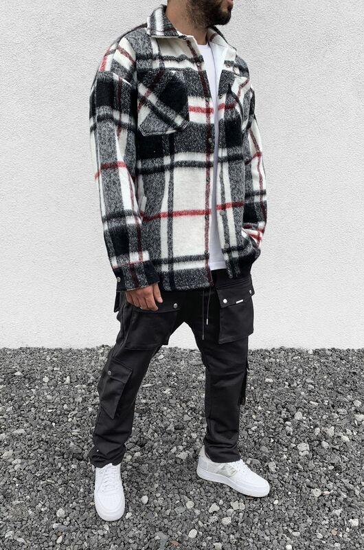 FLANNEL JACKET BLACK 15282 (1)