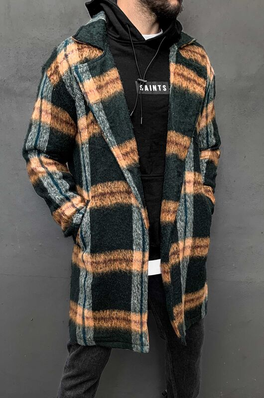 FLANNEL LONG JACKET GREEN 5881 (3)