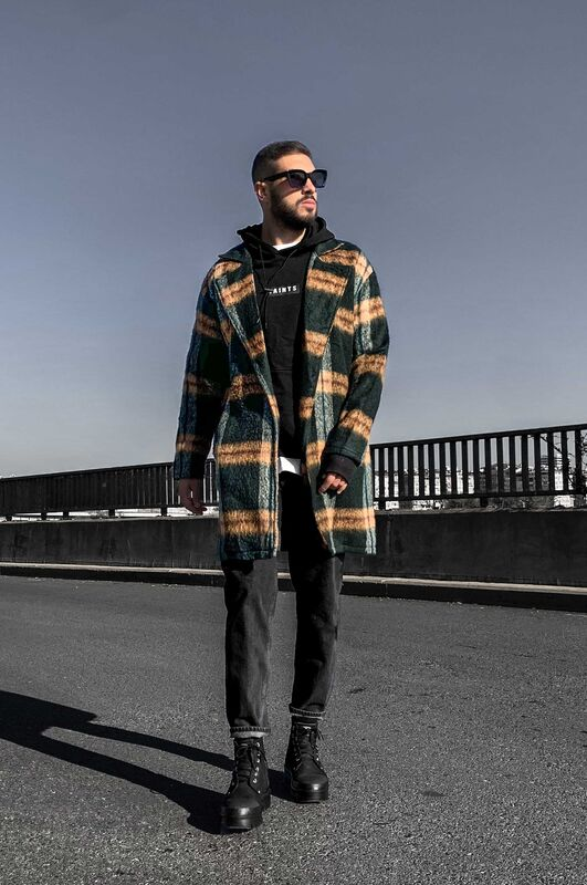 FLANNEL LONG JACKET GREEN 5881 (4)