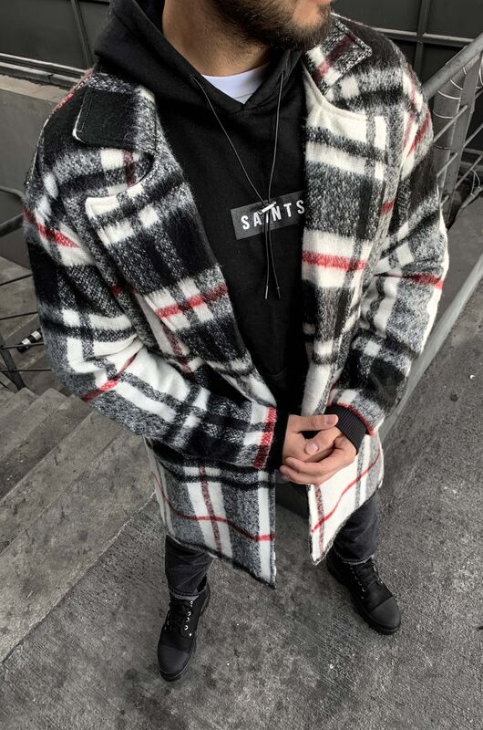 FLANNEL LONG JACKET BLACK 5880 (1)