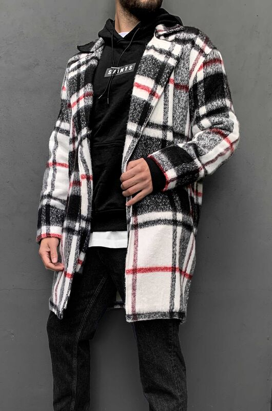 FLANNEL LONG JACKET BLACK 5880 (3)