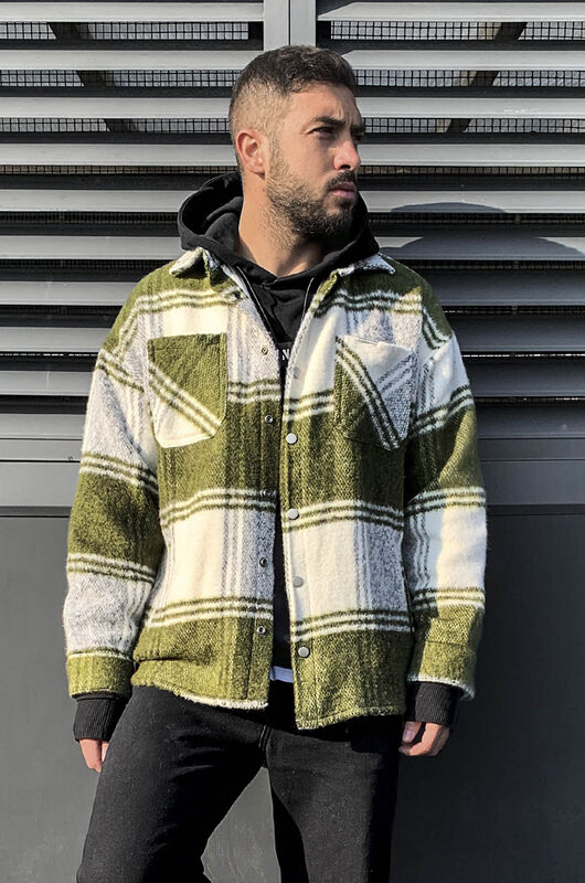 FLANNEL JACKET GREEN 5852 (1)