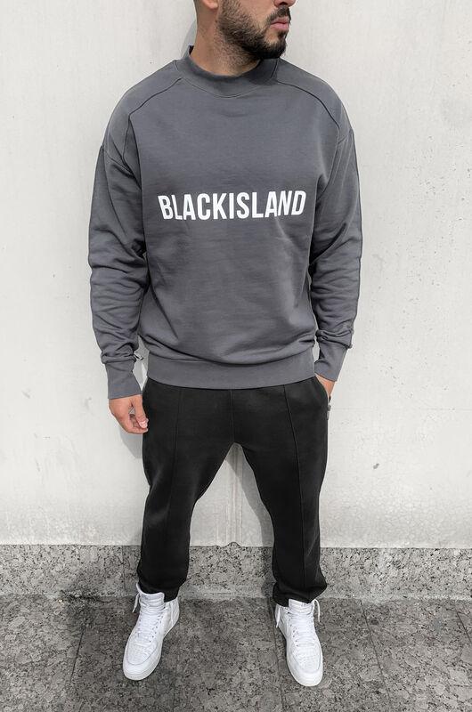 Black Island - PRINTED SWEATSHIRT GREY 1298 (1)