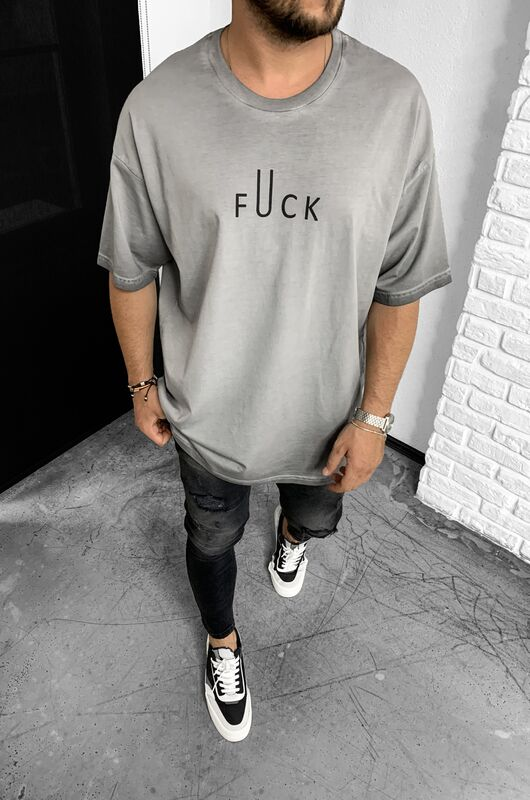 Black Island - FUCK GREY T-SHIRT 1147