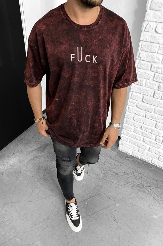 Black Island - FUCK RED T-SHIRT 1147