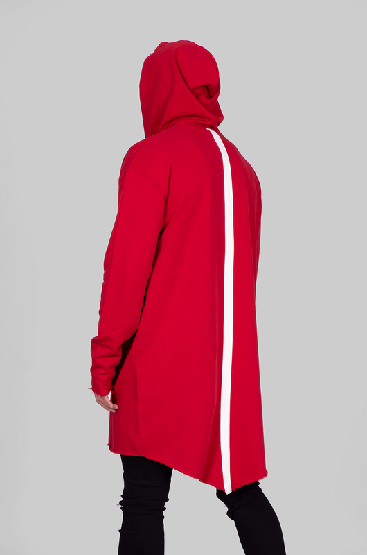 HOODED CARDIGAN RED 1059 (2)