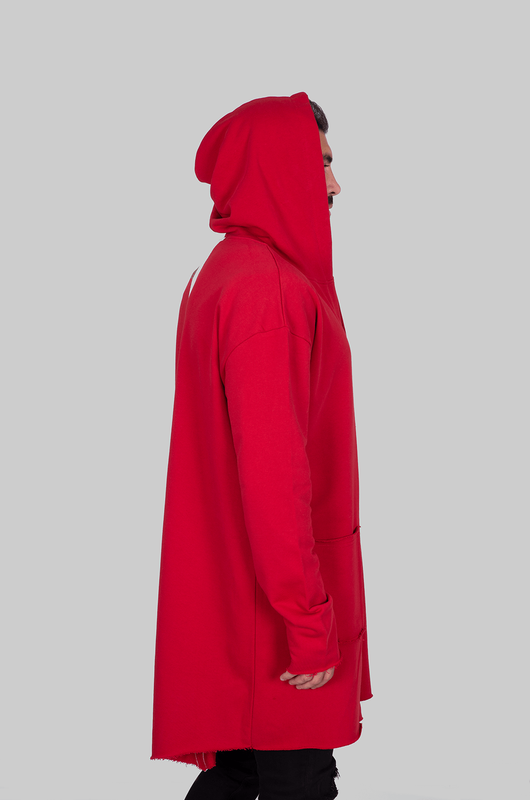 HOODED CARDIGAN RED 1059 (3)