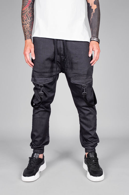 DENIM JOGGER PANTS BLACK 5455 (1)