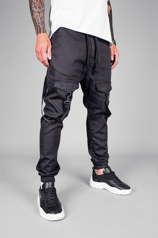- DENIM JOGGER PANTS BLACK 5455 (1)