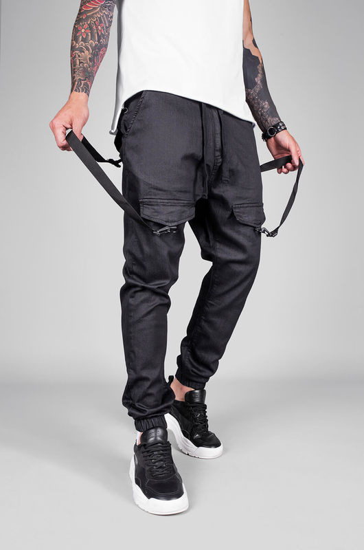 DENIM JOGGER PANTS BLACK 5455 (3)
