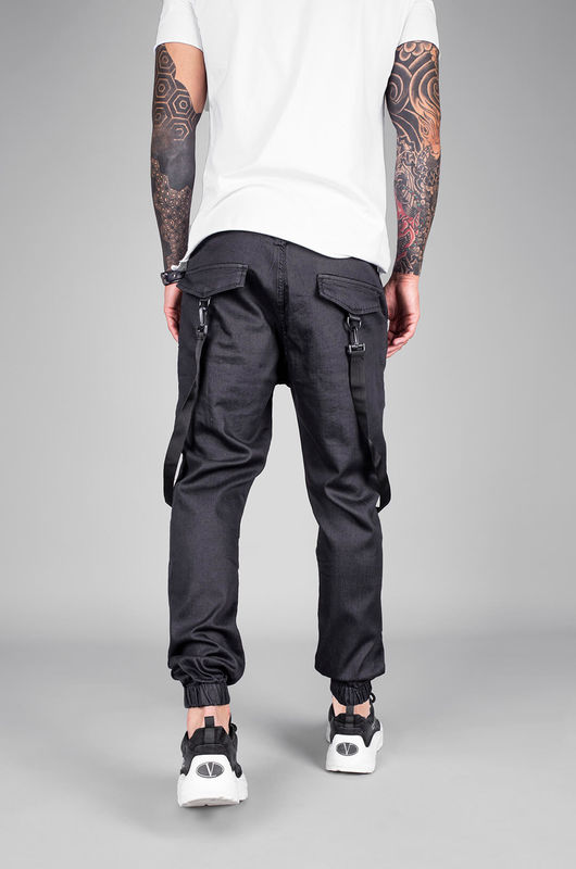 DENIM JOGGER PANTS BLACK 5455 (7)