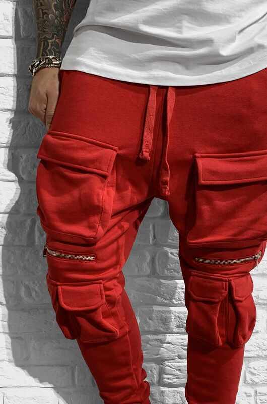 - URBAN JOGGER PANTS RED 1027 (1)