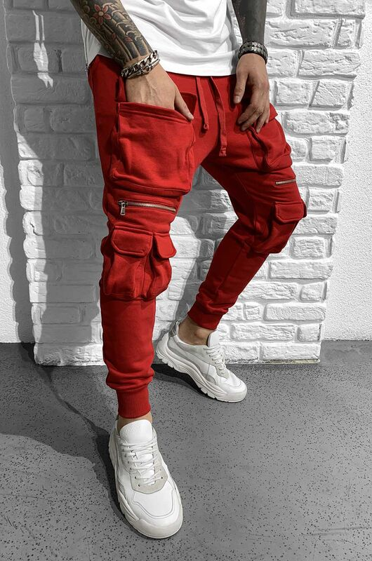URBAN JOGGER PANTS RED 1027 (1)