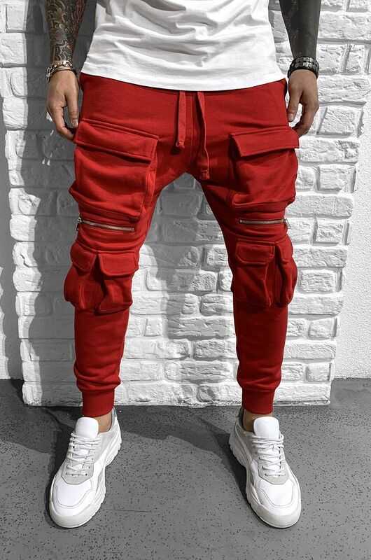 URBAN JOGGER PANTS RED 1027 (3)
