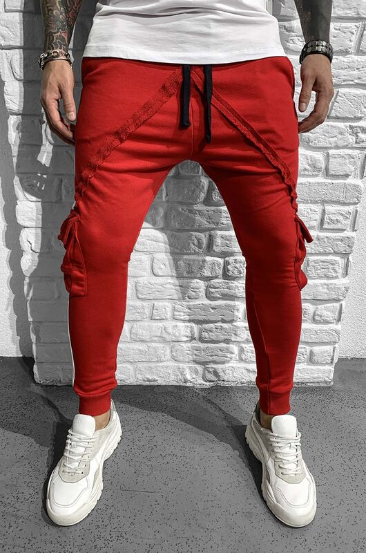 - JOGGER PANTS RED 1049