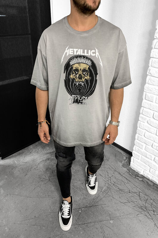 Black Island - METALLICA GREY T-SHIRT 1-1138