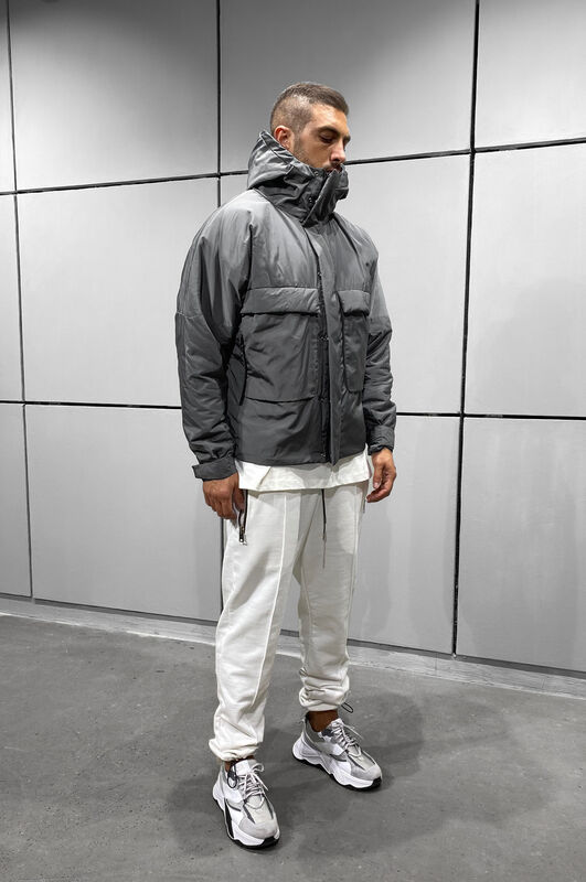 PUFFER BLACK COAT DARK GREY 5010 (4)
