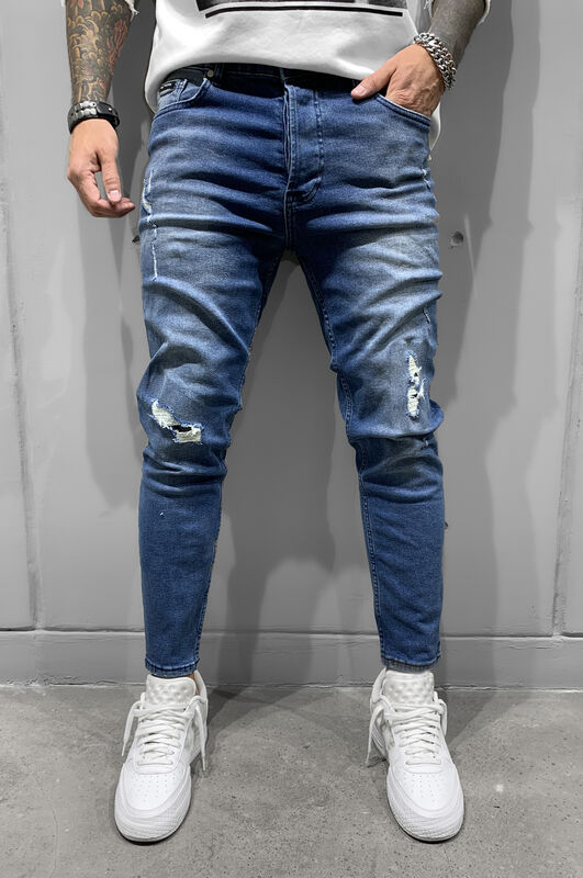 K7 - RIPPED JEANS BLUE 6443 (1)