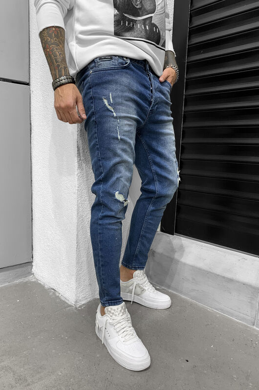 RIPPED JEANS BLUE 6443 (1)