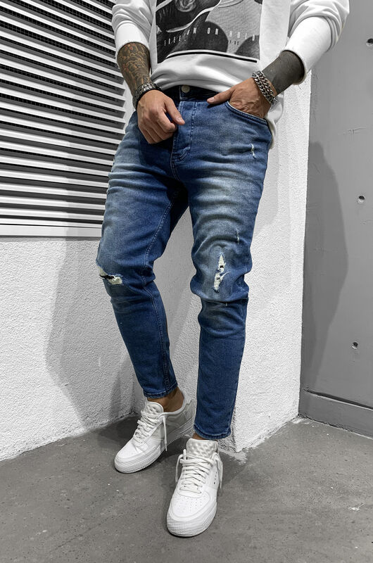 RIPPED JEANS BLUE 6443 (3)
