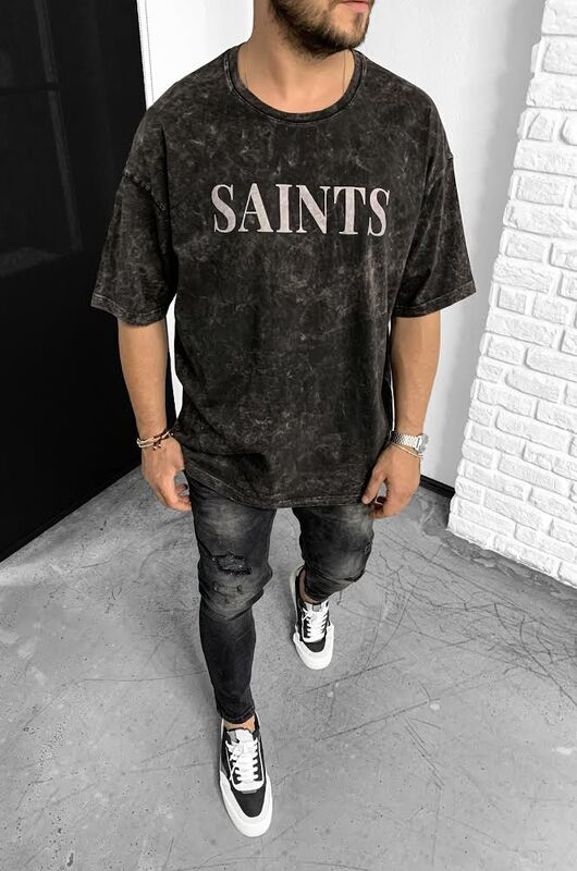 Black Island - SAINTS BEIGE T-SHIRT 1-1139
