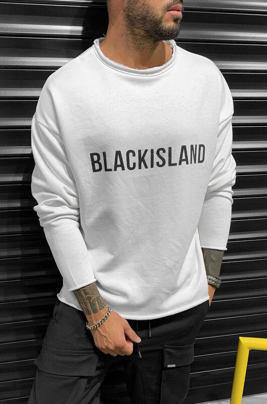 Black Island - BLACKISLAND SWEATSHIRT WHITE 1311 (1)
