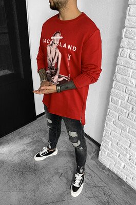 Black Island - SWEAT SHIRT OPEN RED 2083 (1)