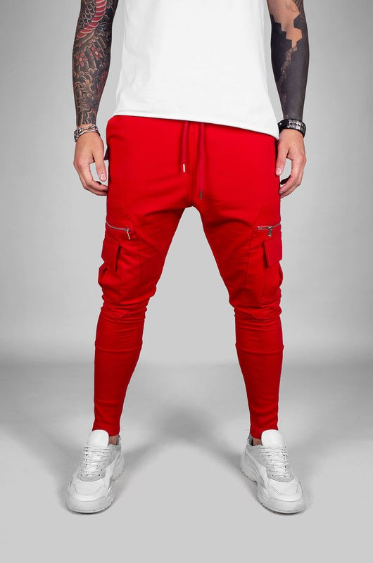 URBAN JOGGER PANTS RED 18040 (1)