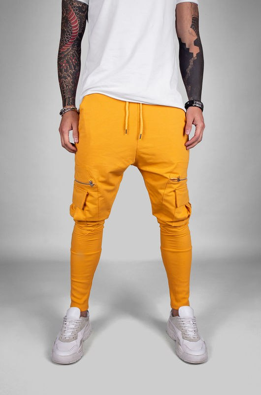 URBAN JOGGER PANTS YELLOW 18040 (1)