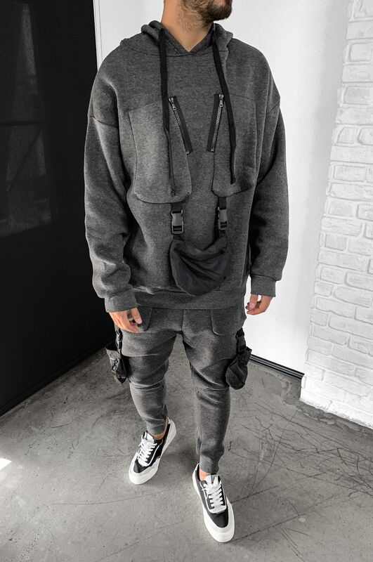 - URBAN TRACKSUIT ANTHRACITE 1074