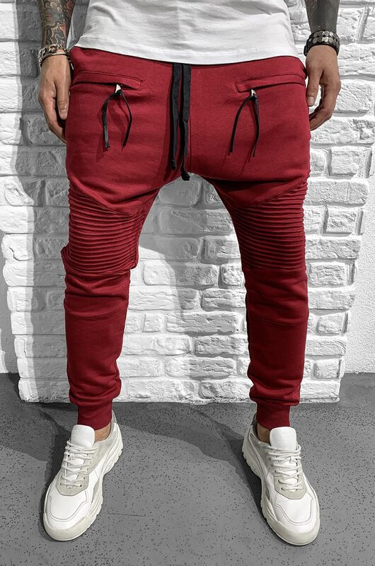 URBAN JOGGER PANTS CLARETED RED 1046 (1)