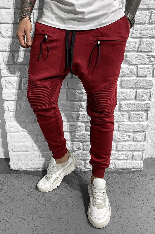 URBAN JOGGER PANTS CLARETED RED 1046 (3)