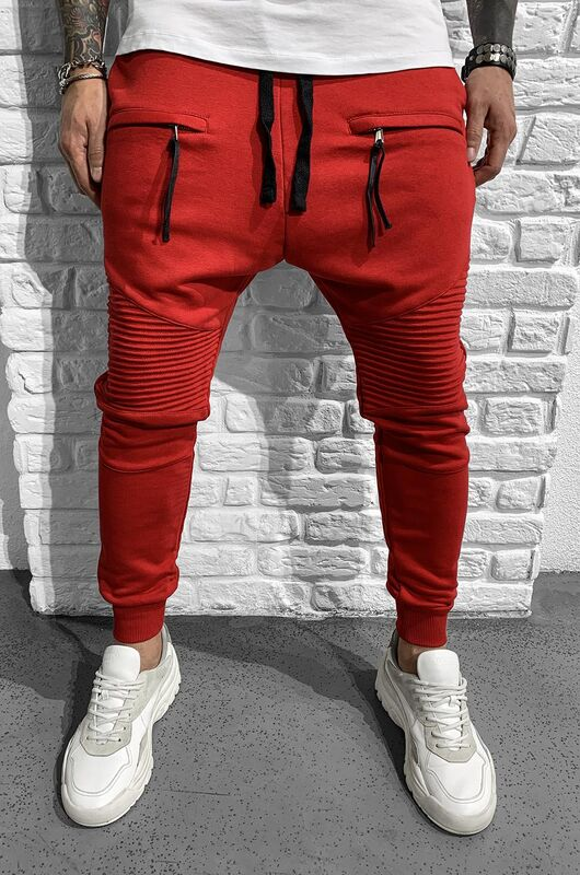 URBAN JOGGER PANTS RED 1046 (1)