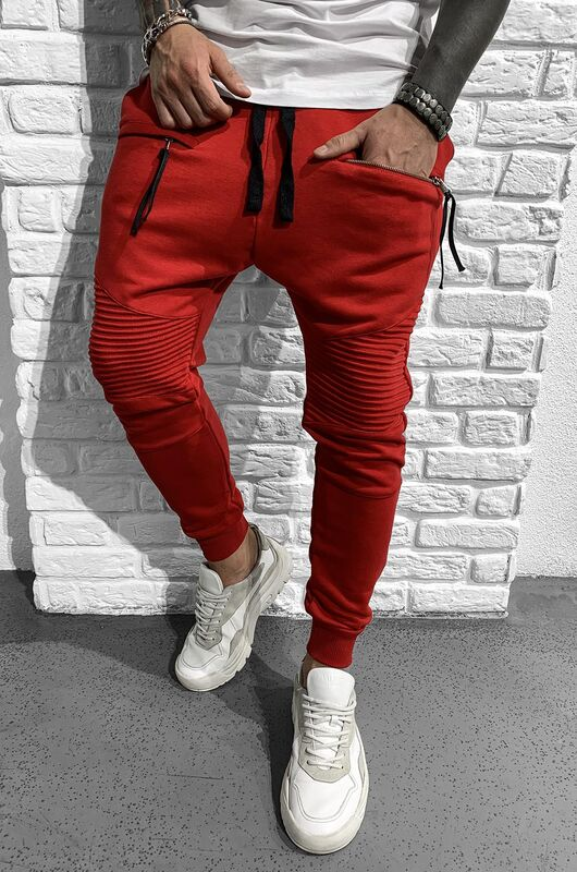 URBAN JOGGER PANTS RED 1046 (3)