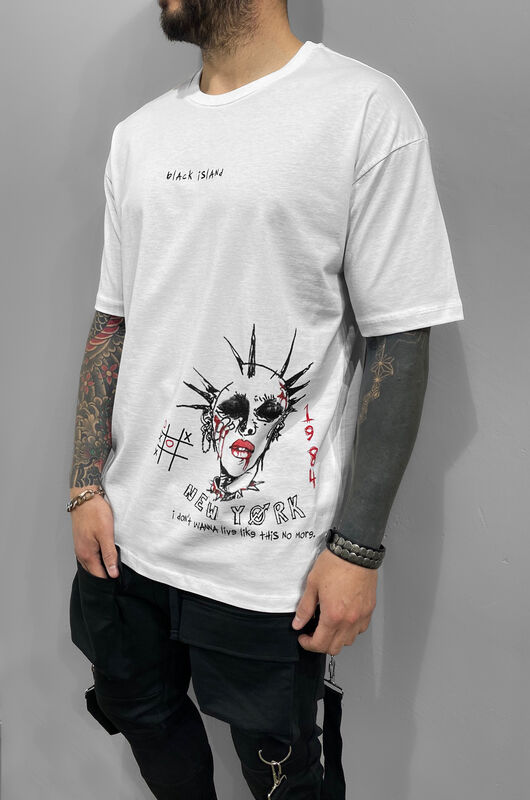 Black Island - WAMPIRE PRINTED T-SHIRT WHITE 1220