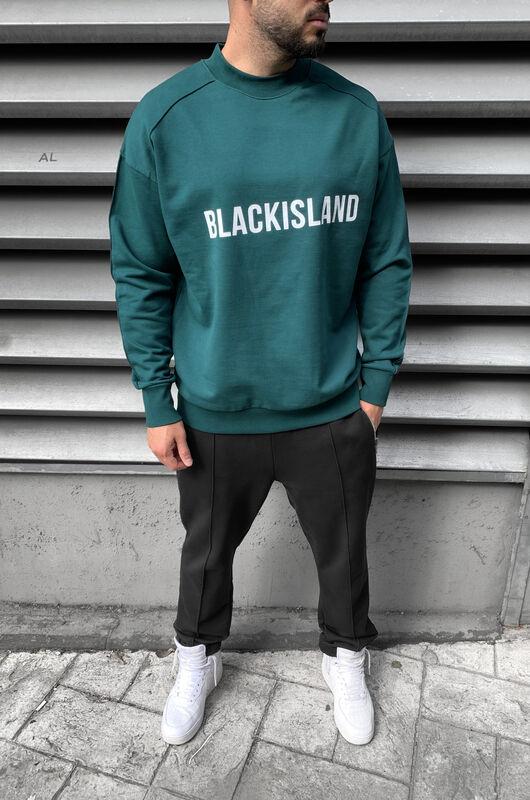 Black Island - PRINTED SWEATSHIRT GREEN 1298 (1)