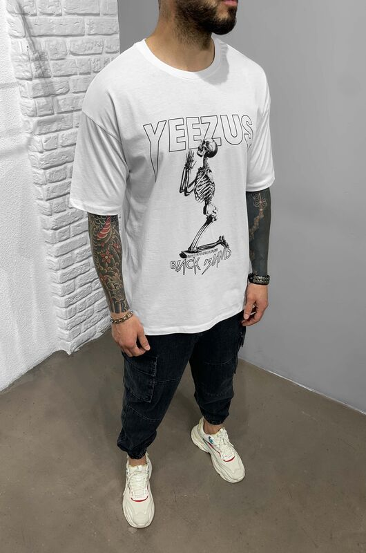 YEEZUS WHITE T-SHIRT 1212 (1)