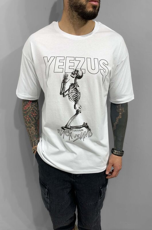 Black Island - YEEZUS WHITE T-SHIRT 1212 (1)