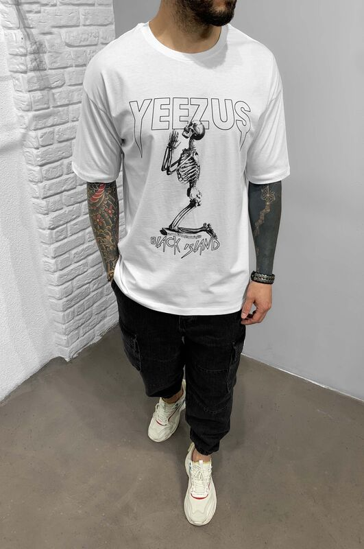 YEEZUS WHITE T-SHIRT 1212 (3)